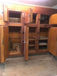 Wooden Ice Box Vintage Freezer Refrigerator Antiques Collection