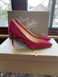 New Authentic Christian Louboutin Kate Suede Heel sz 36.5 $450.00