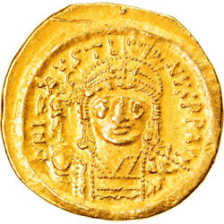 [877028] Coin Justin Ii Solidus 565-578 Ad Constantinople Au55-58 Gold
