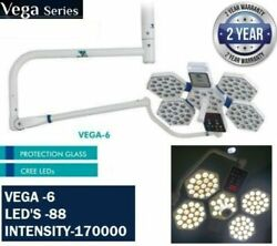 Vega 6 Operation Theater Or Lamp Surgical Room Shadow Less Light Dual Memory Led