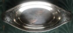 Antique Pierced Reticulated Sterling Silver Nut Or Candy Dish