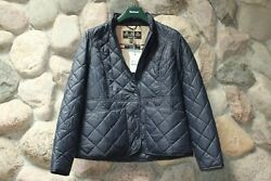 Barbour Jacket Coat Fell Quilt Muted Blue Sam Heughan New UK Size 16 U.S Size 12 $119.95