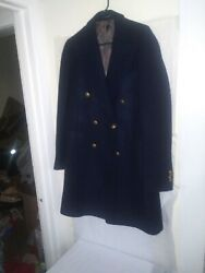 Recent Suitsupply Mens Tessuti Wool Blue Double Breasted Trench Coat 42r Texture