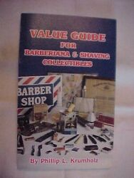 Value Guide For Barberiana And Shaving Collectibles By Krumholz Antiques 1988