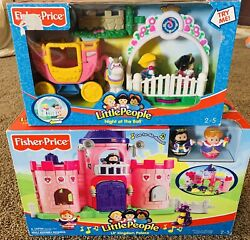 Fisher Price Little People Lil' Kingdom Castle 🏰 And Night At The Ball 🤴👸🏽