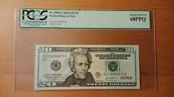 2004 20 Federal Note Frn Fancy Super Lucky Serial 18888878 Pcgs 68 Ppq