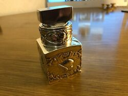 Hm Solid Silver Edwardian Chester Silver Clad Ink Or Perfume Bottle - 1902