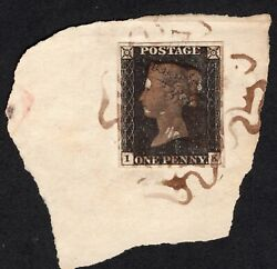 Sg11d Penny Black Plate 2 Rare/scarce Fluid Brown Mx Cat Andpound9500