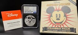 2020 Niue Disney Steamboat Willie First Releases Ngc Pf70 Blue Label 1oz Silver