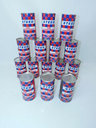 15 Vintage Can Of Steed Gas Conditioner Advertising Nos Sealed Cans With Box