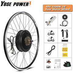 Ebike Conversion Kit 48v 1500w 28and039and039 Rear Wheel Hub Motor Kit For Electric Bike