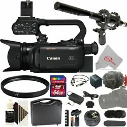 Canon Xa40 Professional Uhd 4k Camcorder With Microphone Kit