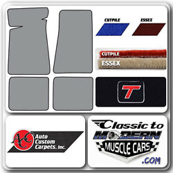 78-87 Gm G Body Buick Regal And039buick Turbo Tand039 Floor Mats 2 Door Cutpile And Essex