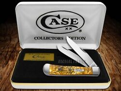 Case Xx Trapper Knife Spider Web Antique Gold Corelon Stainless Pocket Knives