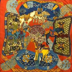 Hermes Scarf Sunday Carres 90 Art Des Steppes The Of Prairie Stall 386 F/s