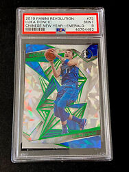 2019 Panini Revolution 7 Luka Doncic Chinese New Year Emerald And039d/88 - Psa 9