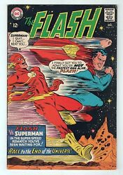 Silver Age Dc 1967 The Flash No. 175 Gold Kryptonite And 2nd Superman Race Fvf 7.0