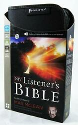 New Niv Listener's Bible 65 Audio Cds Complete Bible Vocal By Max Mclean In Case