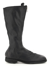 New Guidi Front Zip Leather Boots 410 Blkt Authentic Nwt