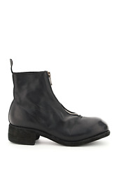 New Guidi Front Zip Leather Ankle Boots Pl1 Blkt Authentic Nwt