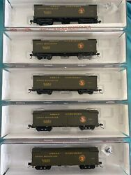 N Scale Roundhouse Gn Great Northern 50' Express Reefer Runner Set Pack Lot 5's