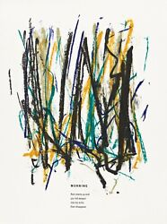 Joan Mitchell And039morningand039 From And039poemsand039 1992 Ltd. Edition Lithograph Print Framed