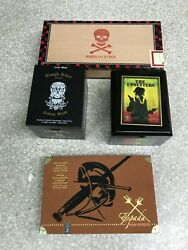 Lot Of 4 Empty Miscellaneous Brand Cigar Boxes