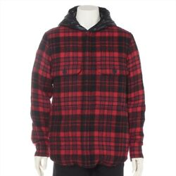Moncler 19 Years Wool Down Jackets 2 Mens Red X Black