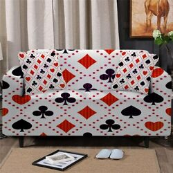 Poker Game Casino Sofa Chair Couch Cushion Stretch Cover Slipcover Set Decor