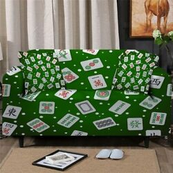 Chinese Game Casino Sofa Chair Couch Cushion Stretch Cover Slipcover Set Decor