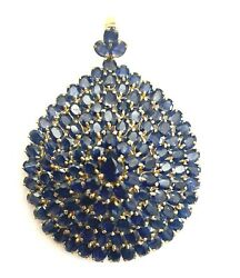 An Important Vintage 14k Yellow Gold And 140 Sapphire Stones Pendant