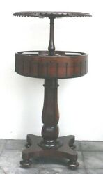 Important 1820and039s Regency Rosewood English Teapoy With Spring Assisted Mechanism
