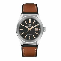 Tag Heuer Wbg1311.ft6116 Carrera Unisex Brown Rubber With Leather Lining Watch