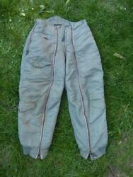 Wwii Usaf Us Air Force Aircrew Flying Nylon Padded Trousers Type D-1b, 32