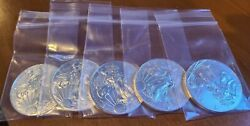 2015 Silver American Eagle 1 Ounce - Lot Of 5 Coins