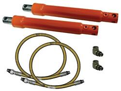 Cross Drilled Angling Cylinder And Hose And Elbow Kit 1.5x10 For Meyer 07968 1304006