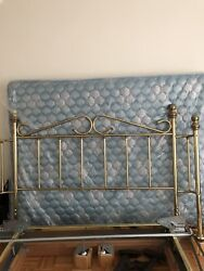 Antique 1950 Brass Bed With Mattress No Shipping