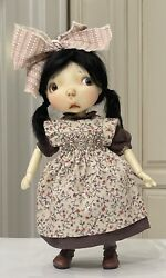 """Boneka Linen Dress And Smocked Pinafore Only 4 10"""" Connie Lowe Sprocket Doll"""