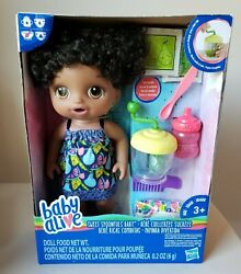 Baby Alive Sweet Spoonfuls Baby Doll Girl Black Hair New