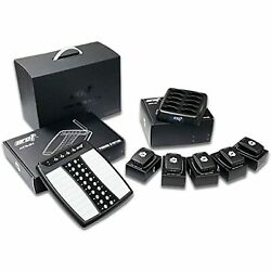 Wireless Staff Server Paging System Kit With Transmitter And 5 Pagers - Newest D