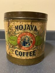 Rare Antique Mojava Coffee Tin Can, C.w. Antrim And Sons, Old Mansion Foods, Va