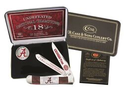 Case Xx Alabama 2020 Undefeated Champs Red And White Corelon Trapper Knife Al20