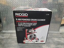 Ridgid 115volt K-400 Drain Cleaning Drum Machine Integral Wound Cable And Tool Set