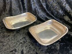 Set Of 2 Vintage Wallace Sterling Silver Dishes 4087