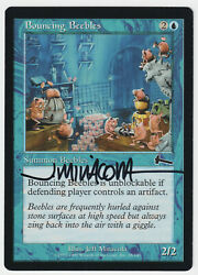 Signed Bouncing Beebles Mp Urza's Legacy Artist Jeff Miracola Mtg Nate's Magic