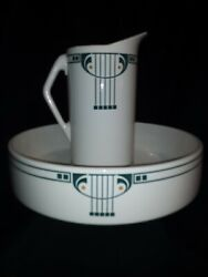 Secessionist Style Pitcher And Basin 1895-1905 Dusseldorf,germany