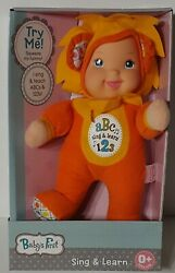 Goldberger Babyand039s First Sing And Learn Baby Doll Lion Teaches Abcand039s And 123and039s 12