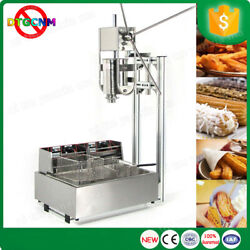 Commercial 3l Churros Maker Machine With 12l Electric Liters Deep Fryer
