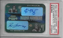 2003 Contenders Round Numbers Gold Auto Rex Grossman Kyle Boller Psa 10 2/10 Wow