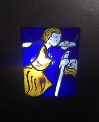 Signed Limited Edition W/ Stained Glass Insert 6/25 Canterbury Cathedral 1980
